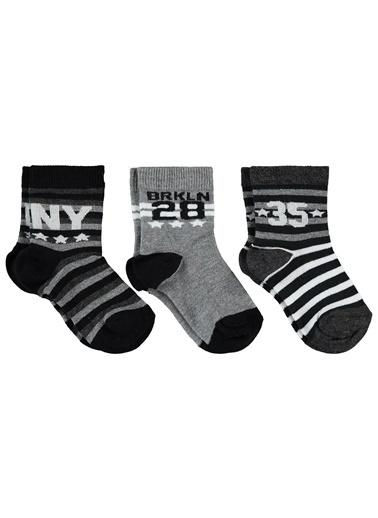 Civil Baby Civil Boys Erkek Çocuk 3'lü Çorap Set 2-12 Yaş Siyah Civil Boys Erkek Çocuk 3'lü Çorap Set 2-12 Yaş Siyah Siyah